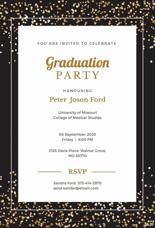008 Sensational Microsoft Word Graduation Invitation Template Idea  Party960