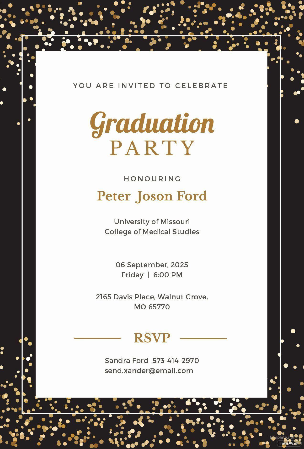 008 Sensational Microsoft Word Graduation Invitation Template Idea  PartyFull