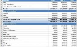 008 Sensational Monthly Income Statement Format Excel Free Download Design