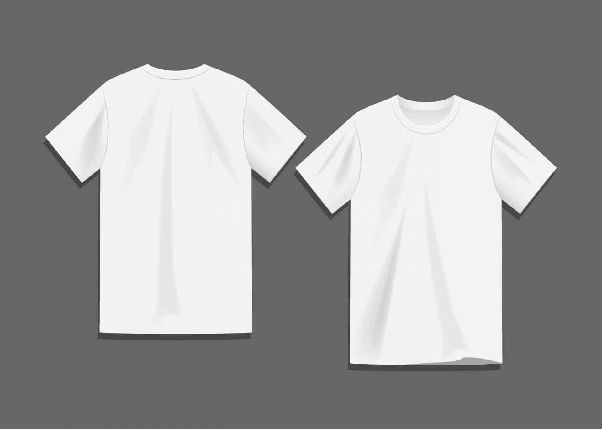 008 Sensational Plain T Shirt Template Idea  Blank Front And Back1920