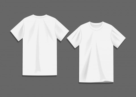 008 Sensational Plain T Shirt Template Idea  Blank Front And Back480