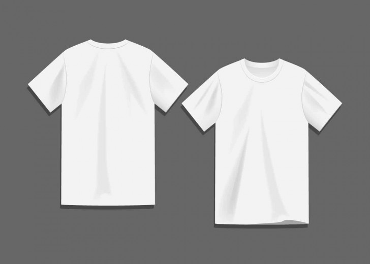008 Sensational Plain T Shirt Template Idea  Blank Front And Back728