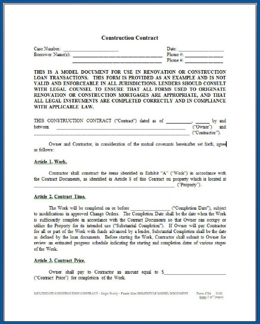 008 Sensational Residential Construction Contract Template Picture  House Agreement In Tamil