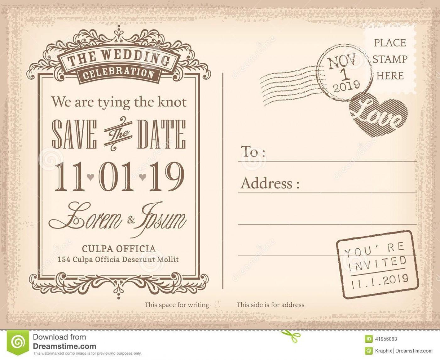 008 Sensational Save The Date Postcard Template Example  Diy Free Birthday1400