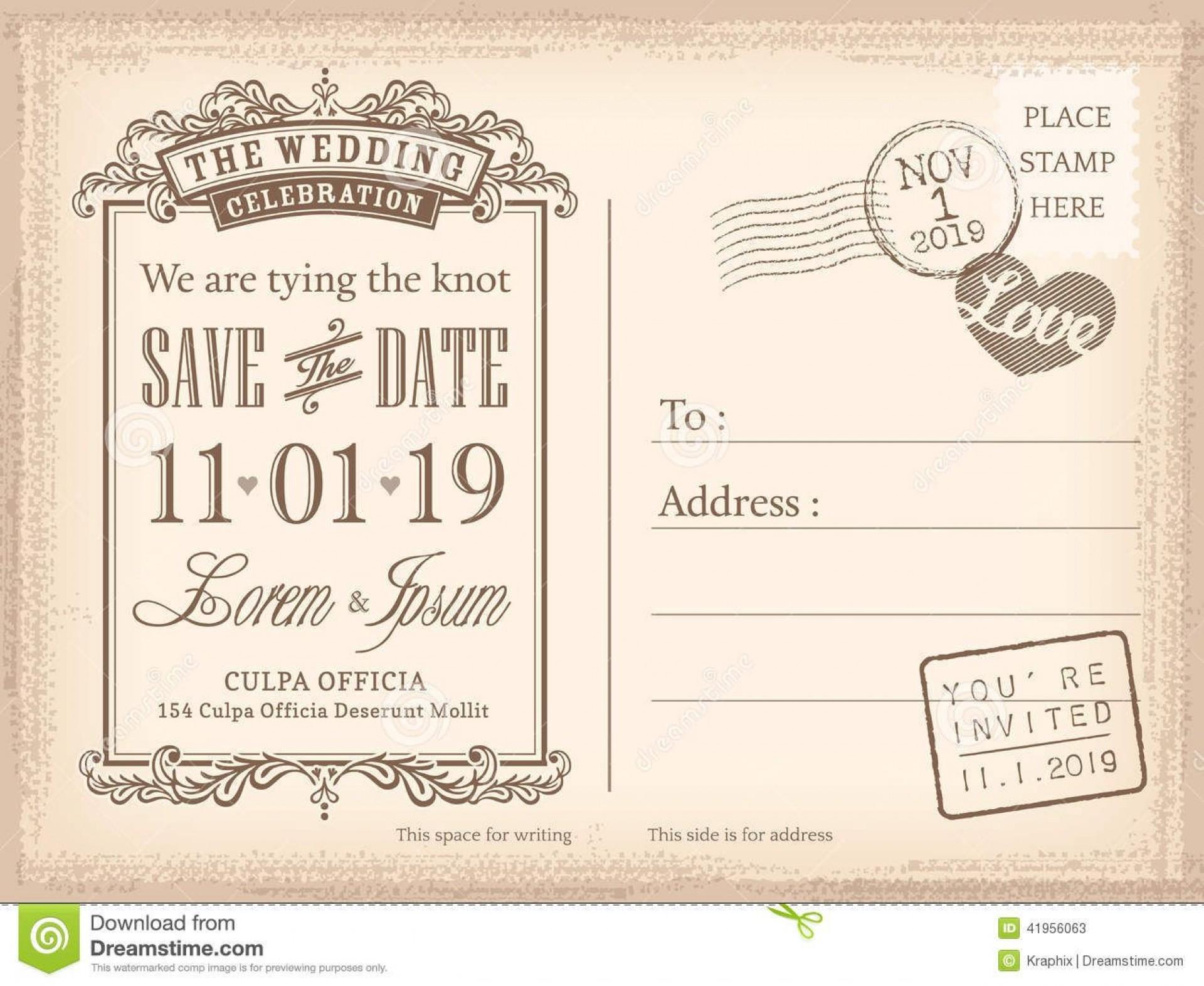008 Sensational Save The Date Postcard Template Example  Diy Free Birthday1920