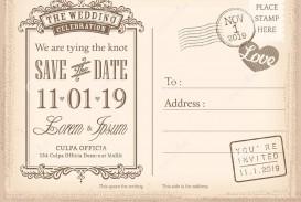 008 Sensational Save The Date Postcard Template Example  Diy Free Birthday