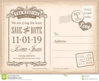 008 Sensational Save The Date Postcard Template Example  Diy Free Birthday320