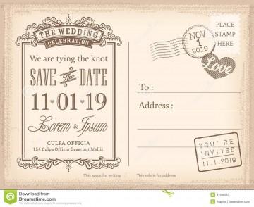 008 Sensational Save The Date Postcard Template Example  Diy Free Birthday360