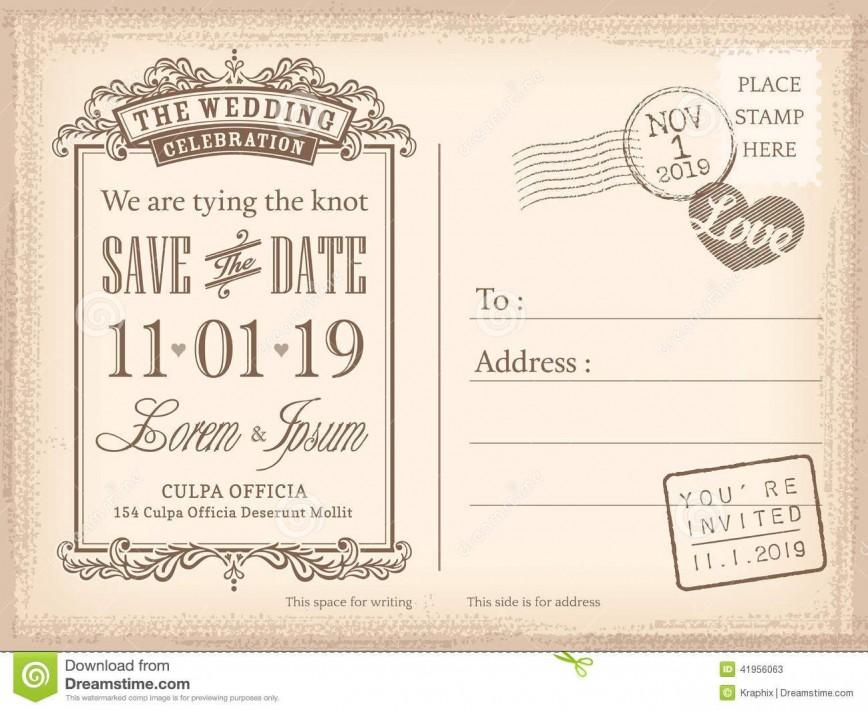 008 Sensational Save The Date Postcard Template Example  Diy Free Birthday868