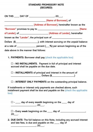 008 Sensational Secured Promissory Note Template Photo  Free Word Georgia California320
