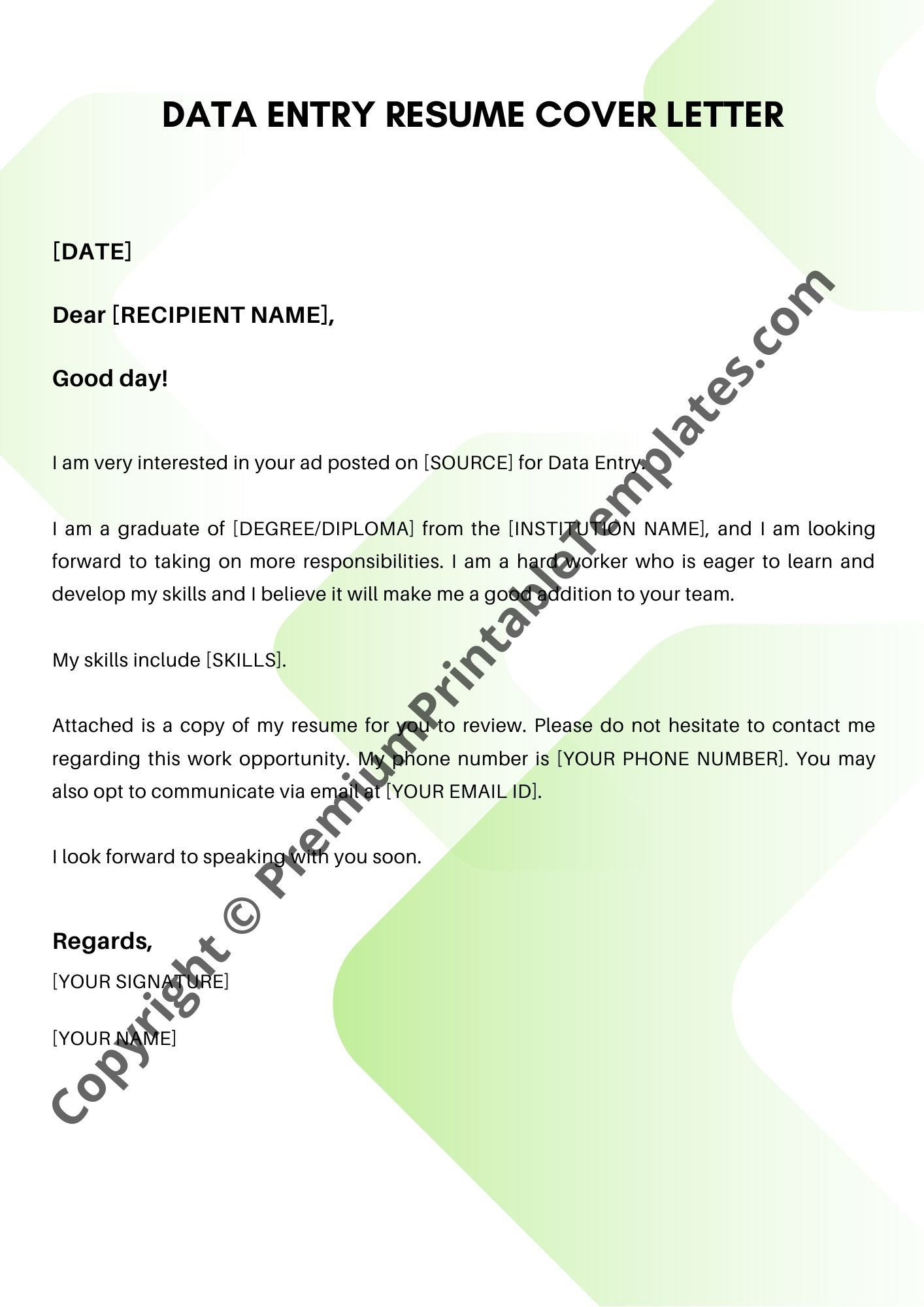008 Sensational Simple Cover Letter Template Inspiration  For Resume NzFull