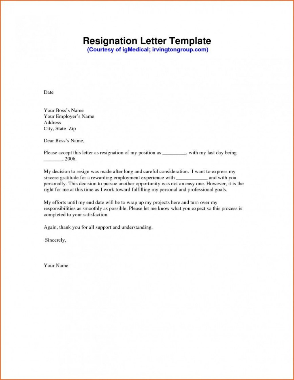 008 Sensational Template For Letter Of Resignation High Def  Free With Notice Period WordLarge