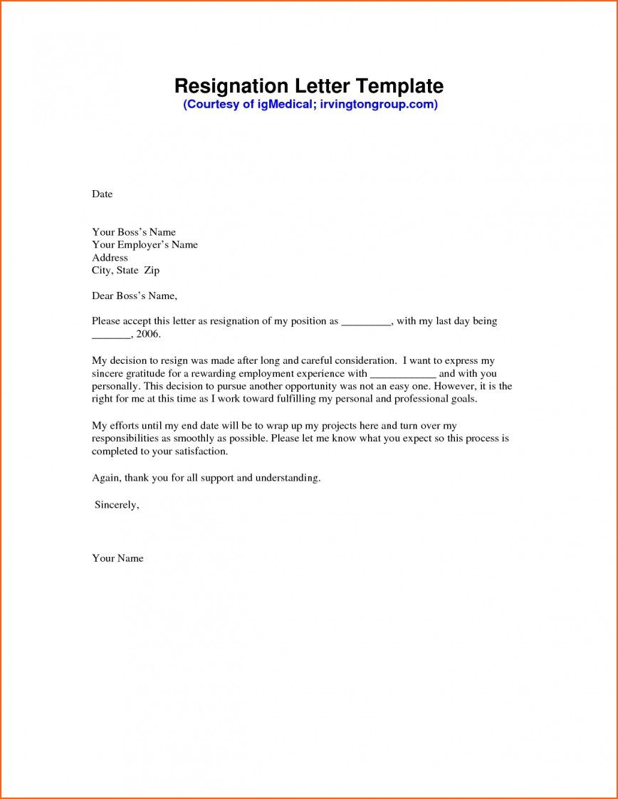 008 Sensational Template For Letter Of Resignation High Def  Free With Notice Period WordFull