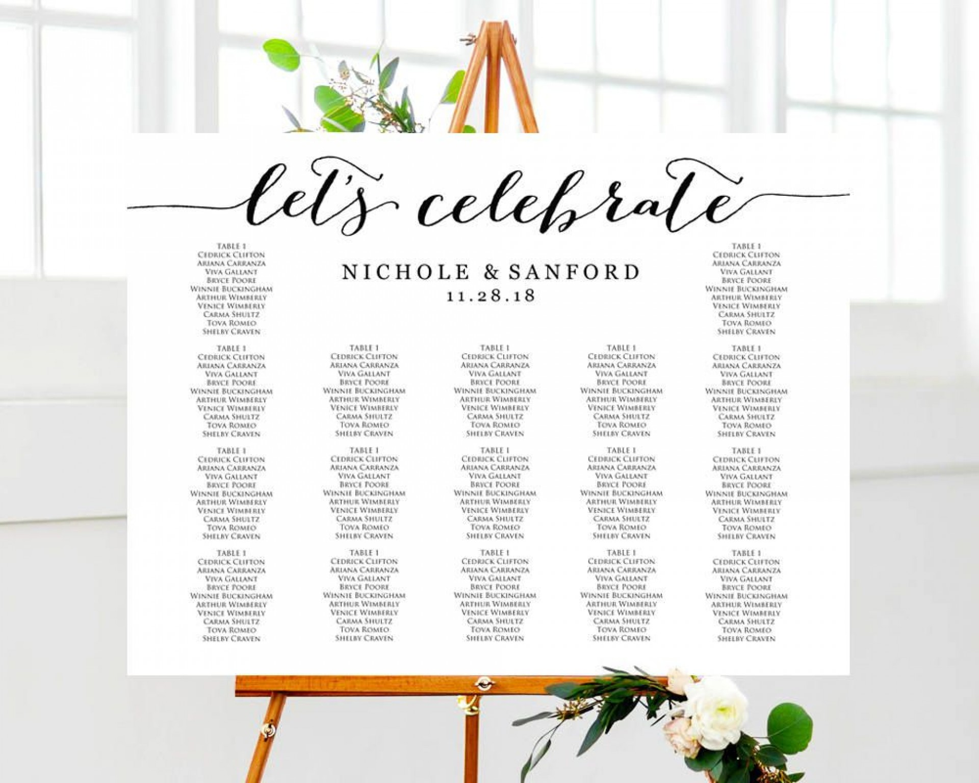 008 Sensational Wedding Seating Chart Template Highest Clarity  Templates Plan Excel Word Microsoft1920