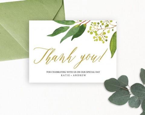008 Sensational Wedding Thank You Card Template High Definition  Photoshop Word Etsy480