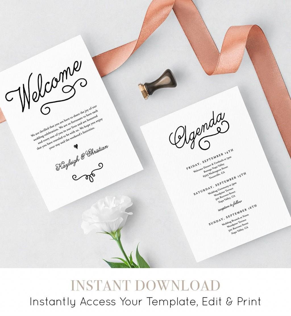 008 Sensational Wedding Welcome Bag Letter Template Free Highest Quality Large