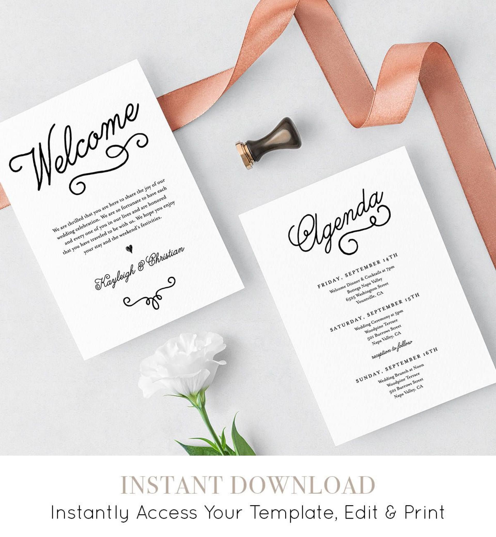 008 Sensational Wedding Welcome Bag Letter Template Free Highest Quality 1920