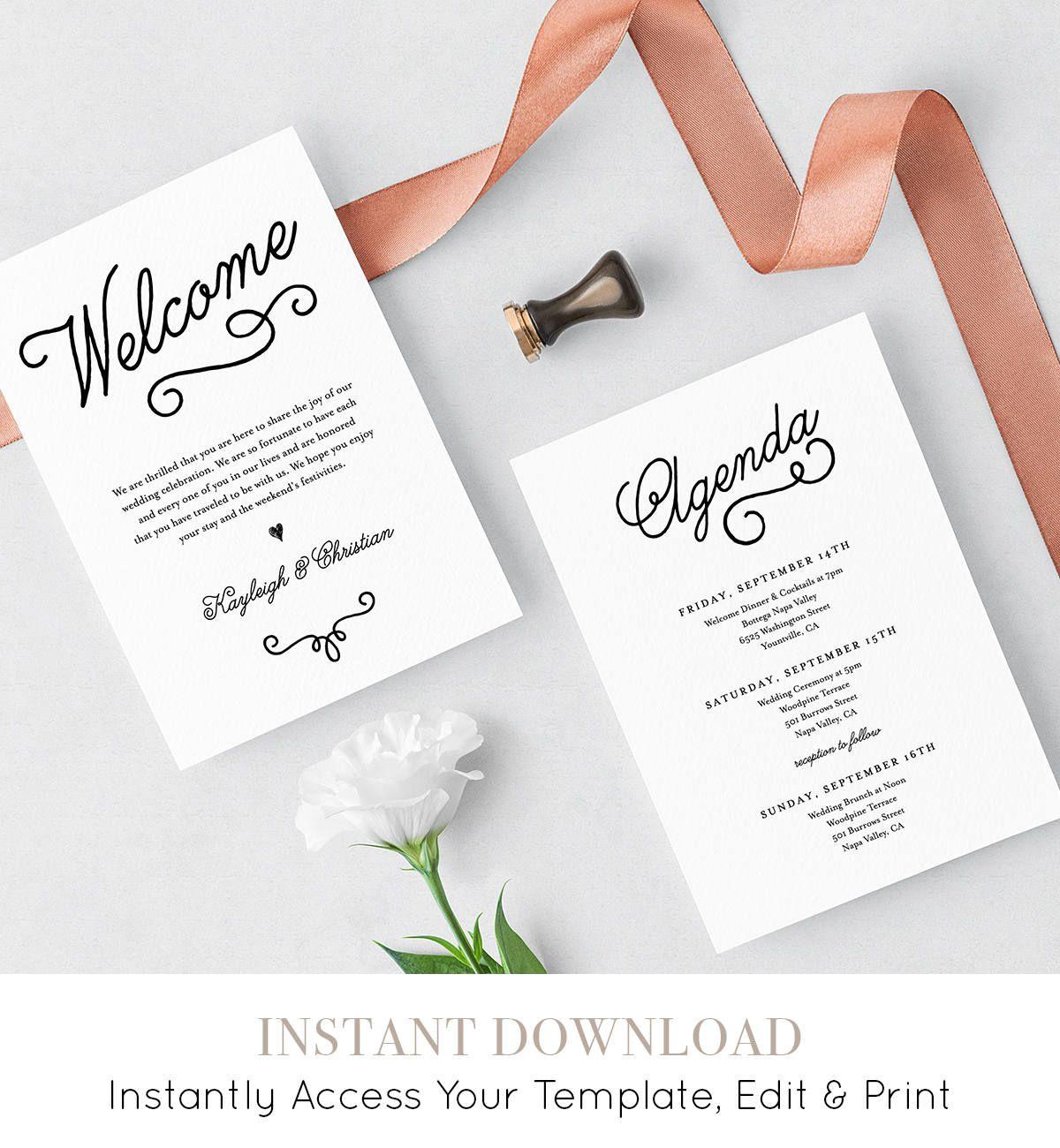 008 Sensational Wedding Welcome Bag Letter Template Free Highest Quality Full