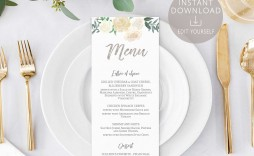 008 Shocking Baby Shower Menu Template Design  Templates Lunch Printable Downloadable