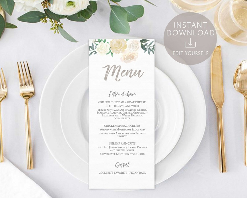 008 Shocking Baby Shower Menu Template Design  Templates Food Card