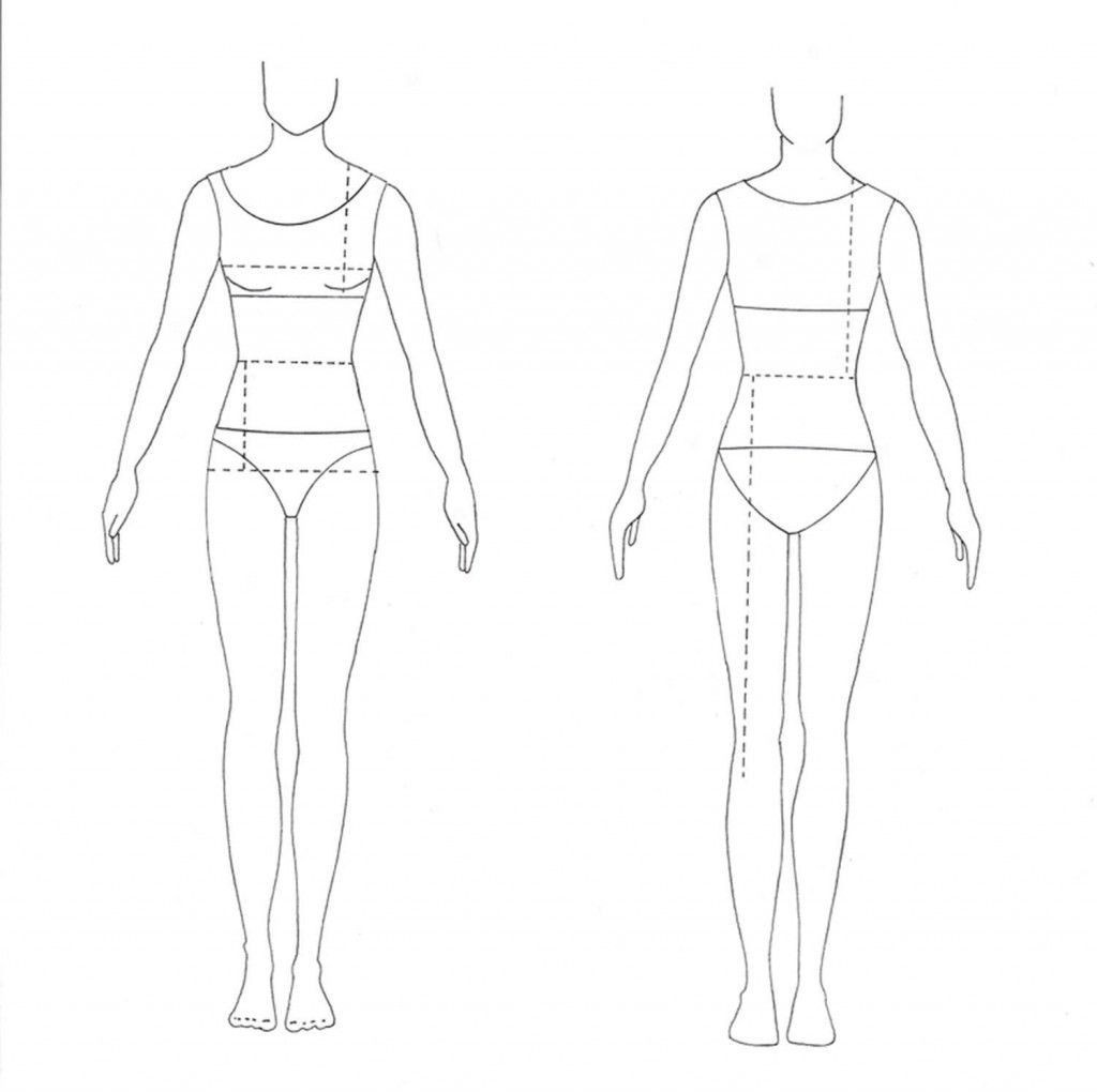 008 Shocking Body Template For Fashion Design Concept  Female Male HumanLarge
