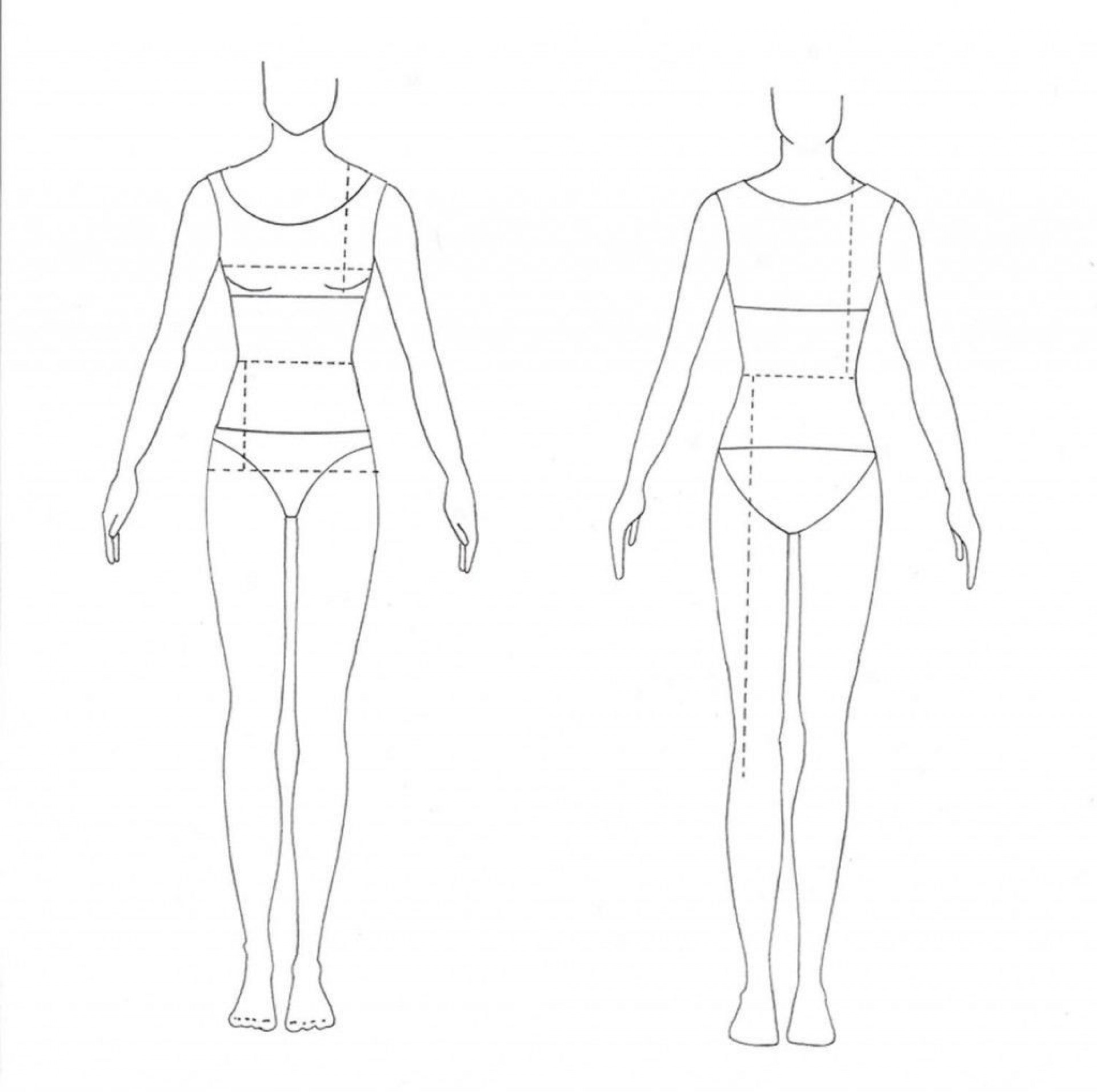008 Shocking Body Template For Fashion Design Concept  Female Male Human1920
