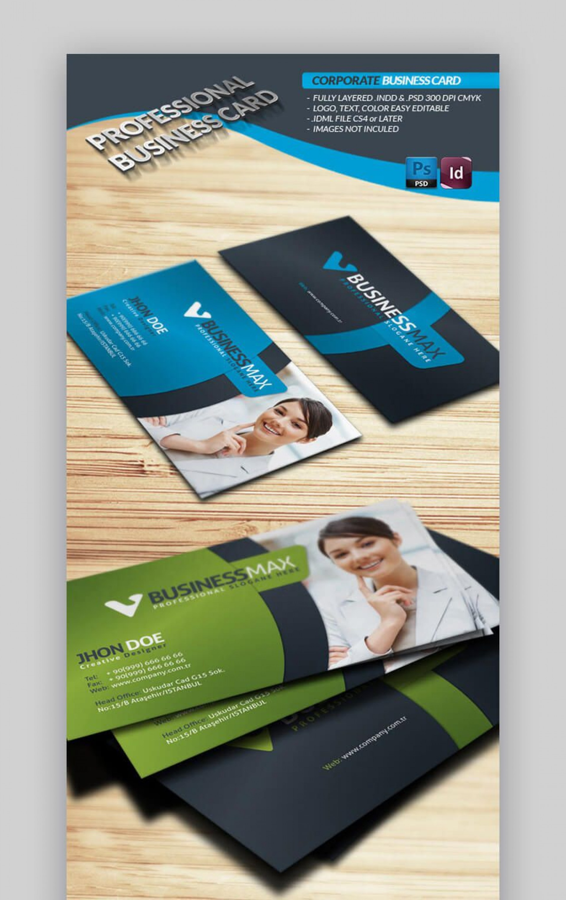 008 Shocking Busines Card Layout Indesign Inspiration  Size Template Free Download Cs61920