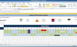 008 Shocking Excel Work Schedule Template Concept  Microsoft Plan Yearly Shift