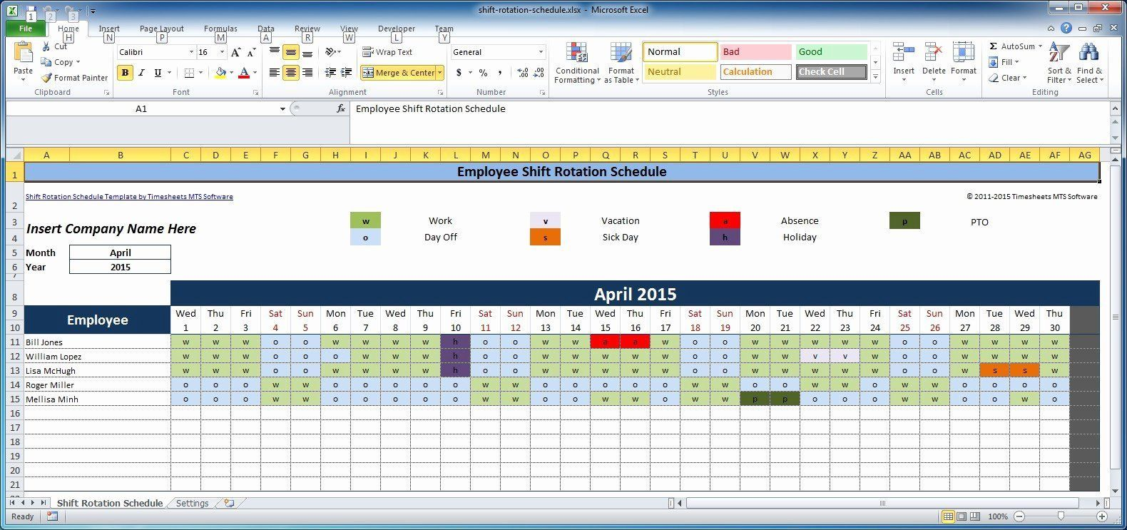008 Shocking Excel Work Schedule Template Concept  Microsoft Plan Yearly ShiftFull