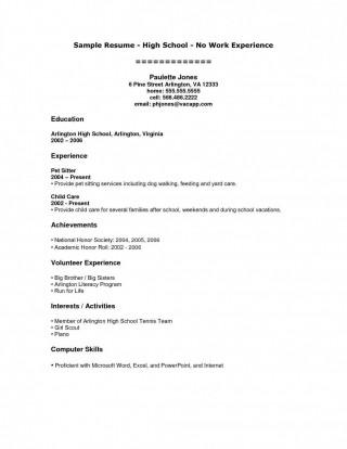008 Shocking High School Student Resume Template Inspiration  Free Google Doc320