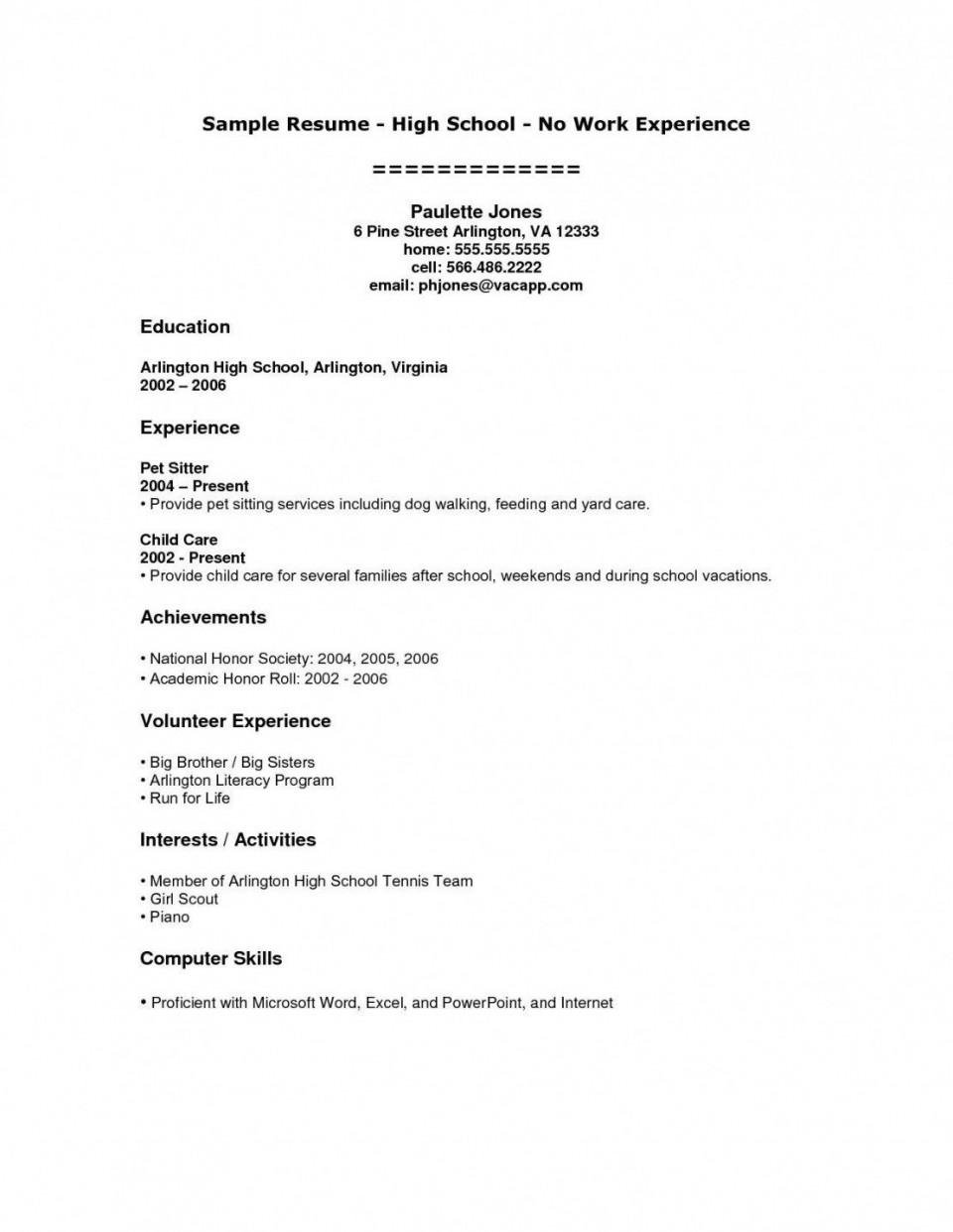 008 Shocking High School Student Resume Template Inspiration  Free Google Doc960