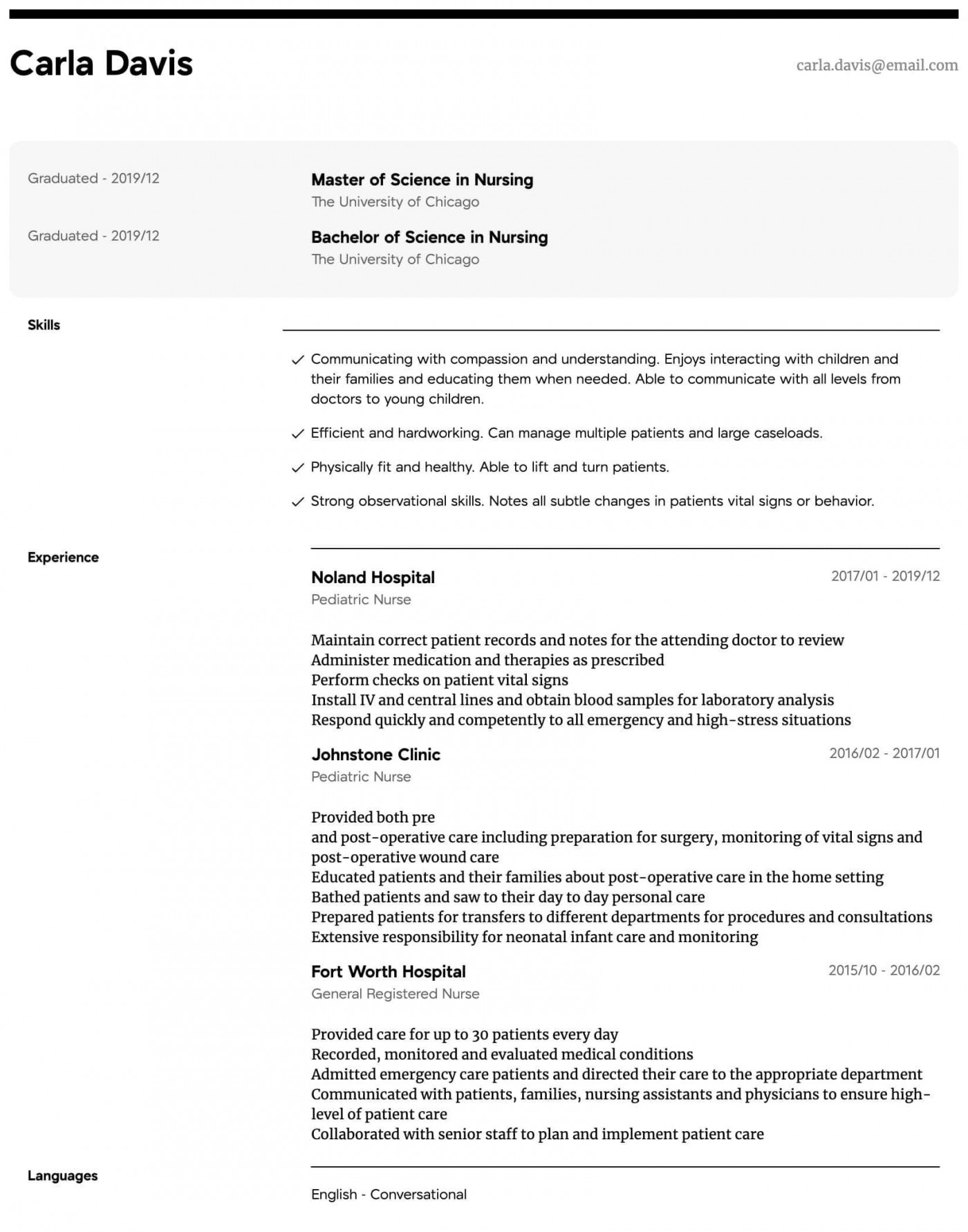 008 Shocking New Rn Resume Template Example 1400