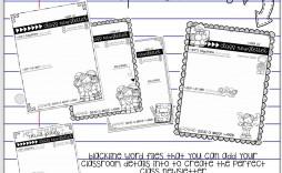 008 Shocking Newsletter Template For Teacher Design  Teachers To Parent Free Printable Digital