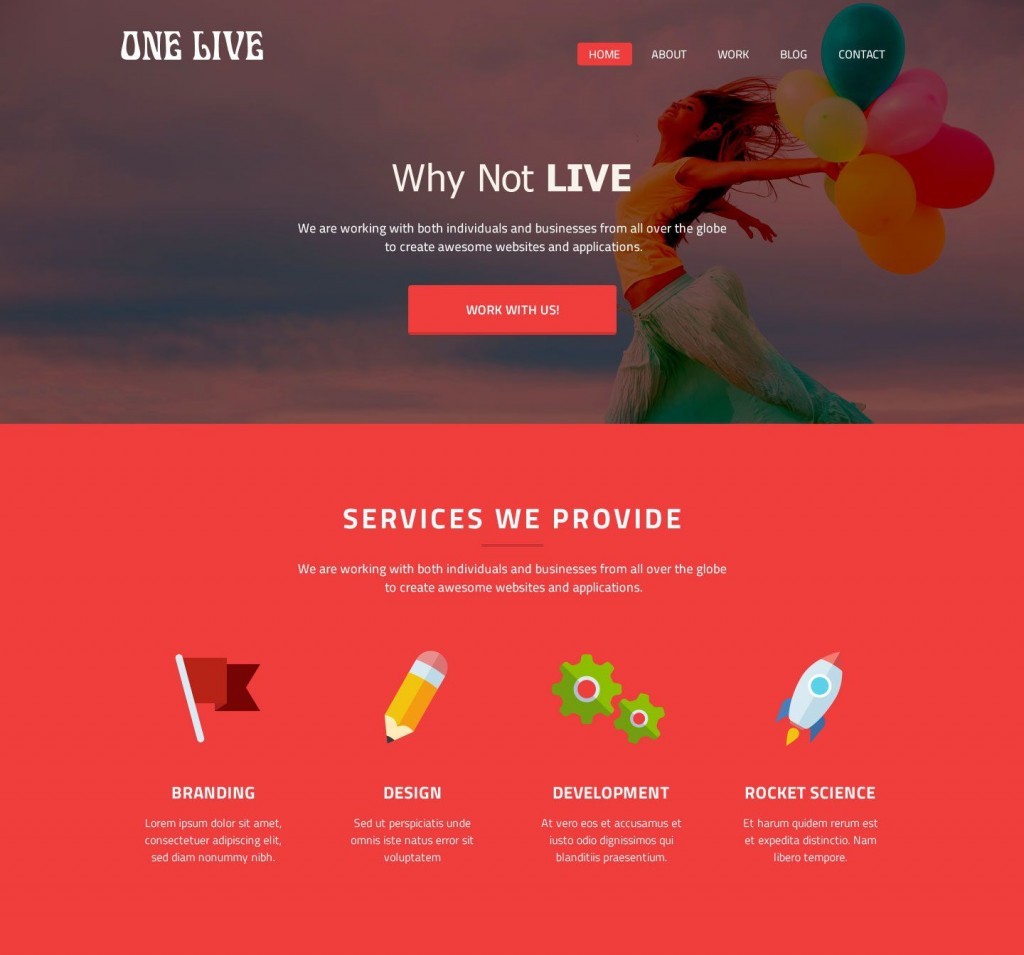 008 Shocking One Page Website Template Psd Free Download Design Large