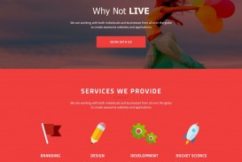 008 Shocking One Page Website Template Psd Free Download Design