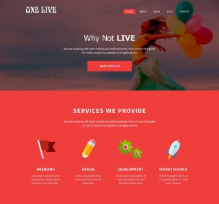 008 Shocking One Page Website Template Psd Free Download Design 320