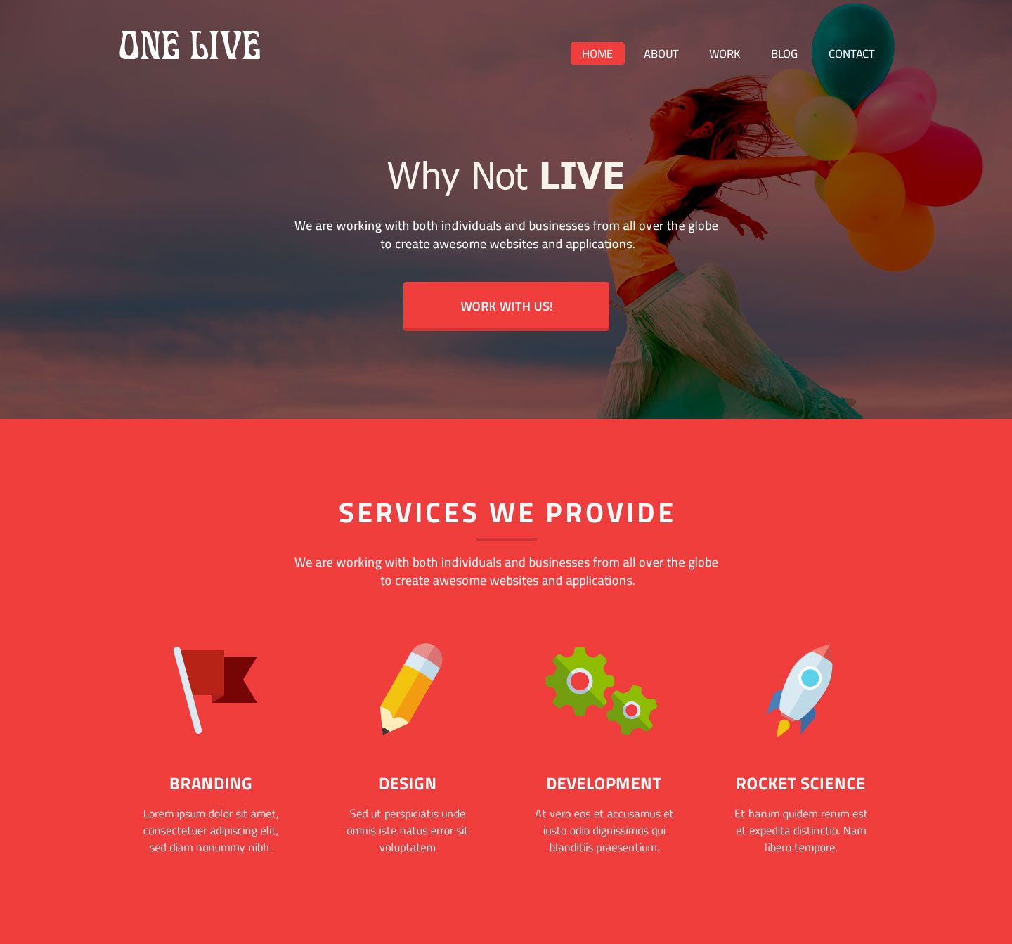 008 Shocking One Page Website Template Psd Free Download Design Full