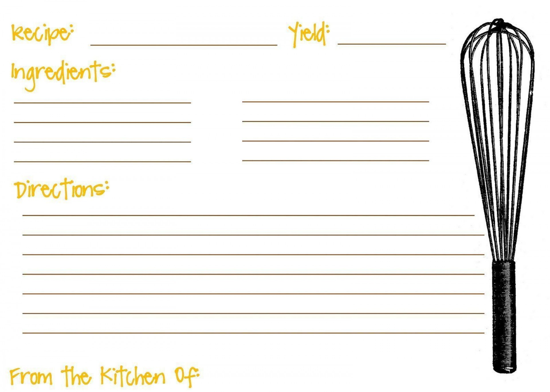 008 Shocking Recipe Card Template For Word Idea  Printable Blank Fillable1920