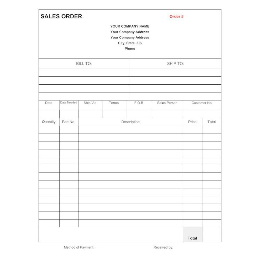 008 Shocking Sale Order Form Template Highest Quality  Templates Excel Word Free OnlineLarge