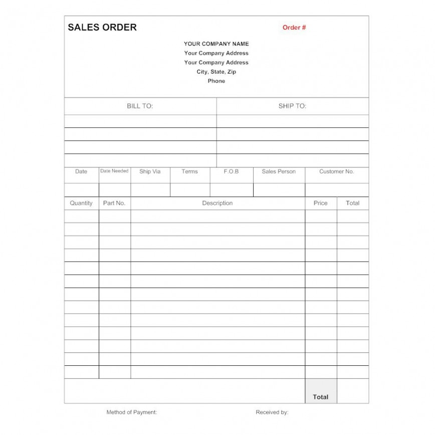 008 Shocking Sale Order Form Template Highest Quality  Templates Free Word