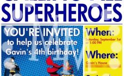 008 Shocking Superhero Newspaper Invitation Template Free Design