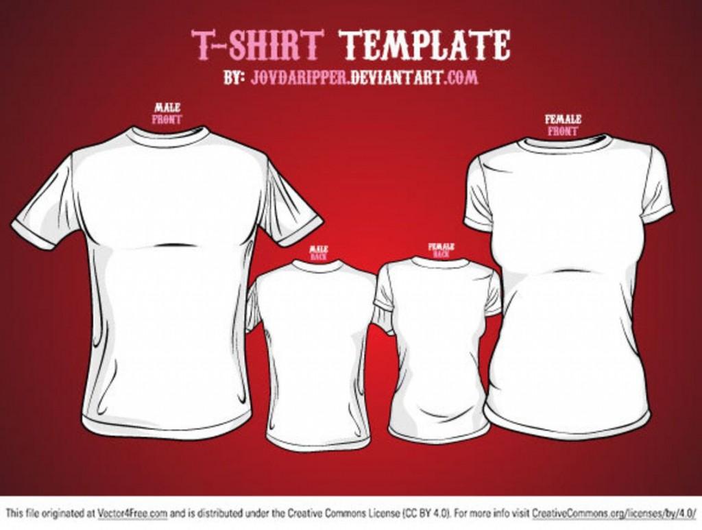008 Shocking T Shirt Template Vector Inspiration  Black Front And Back Free Download IllustratorLarge
