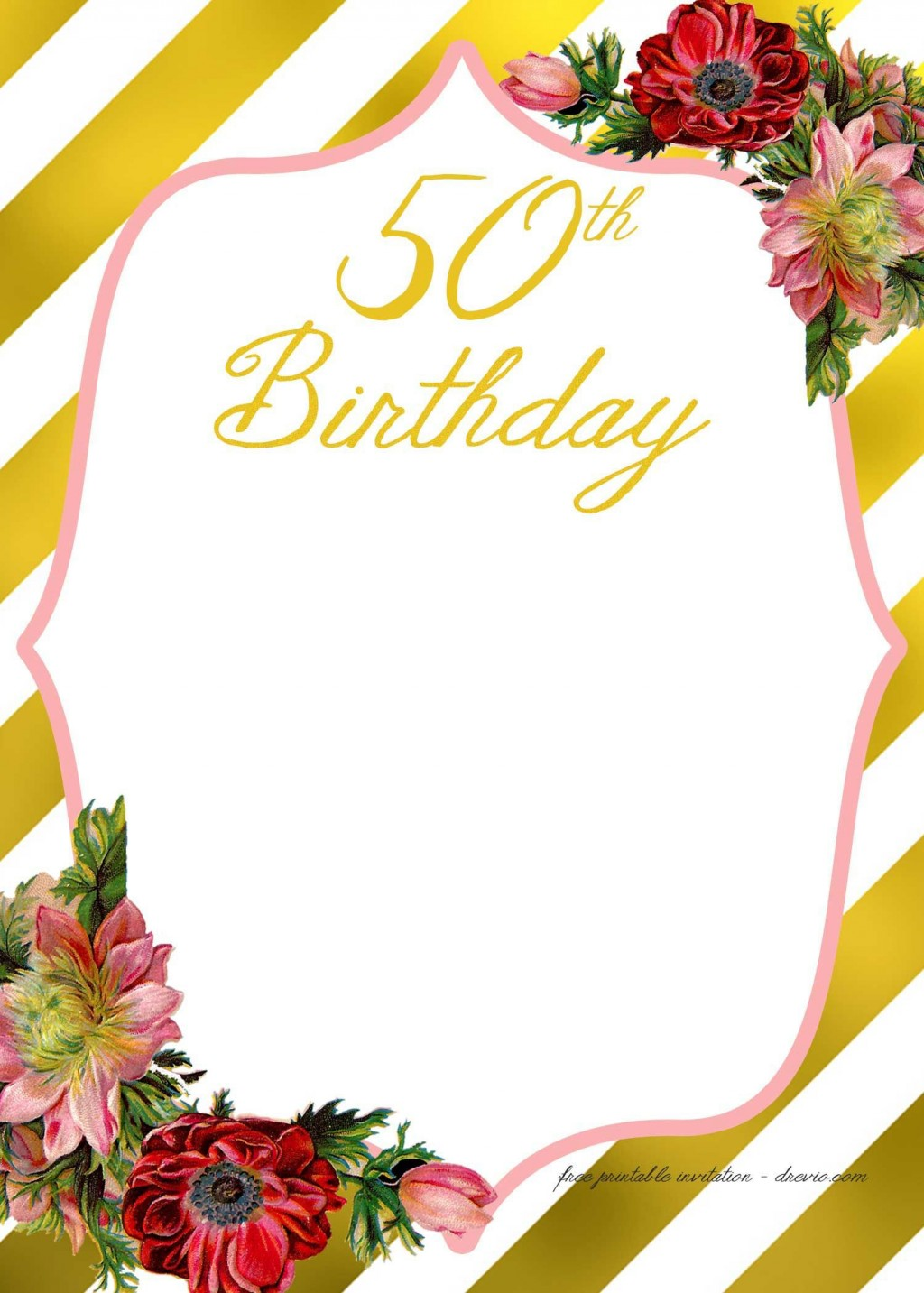 008 Simple 60th Birthday Invitation Template High Resolution  Card Free DownloadLarge