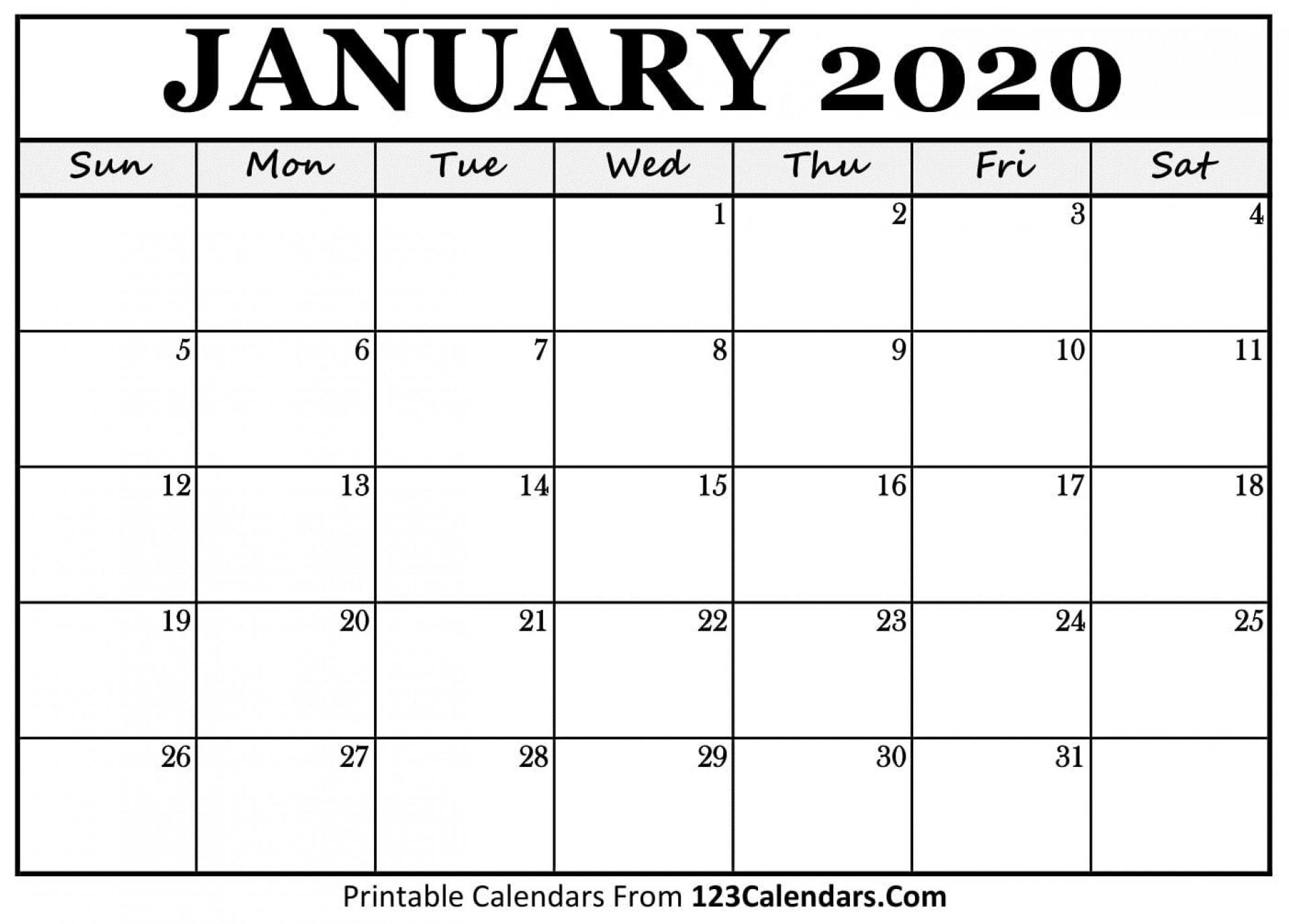 008 Simple Blank Calendar Template Pdf Sample  Free Yearly1920