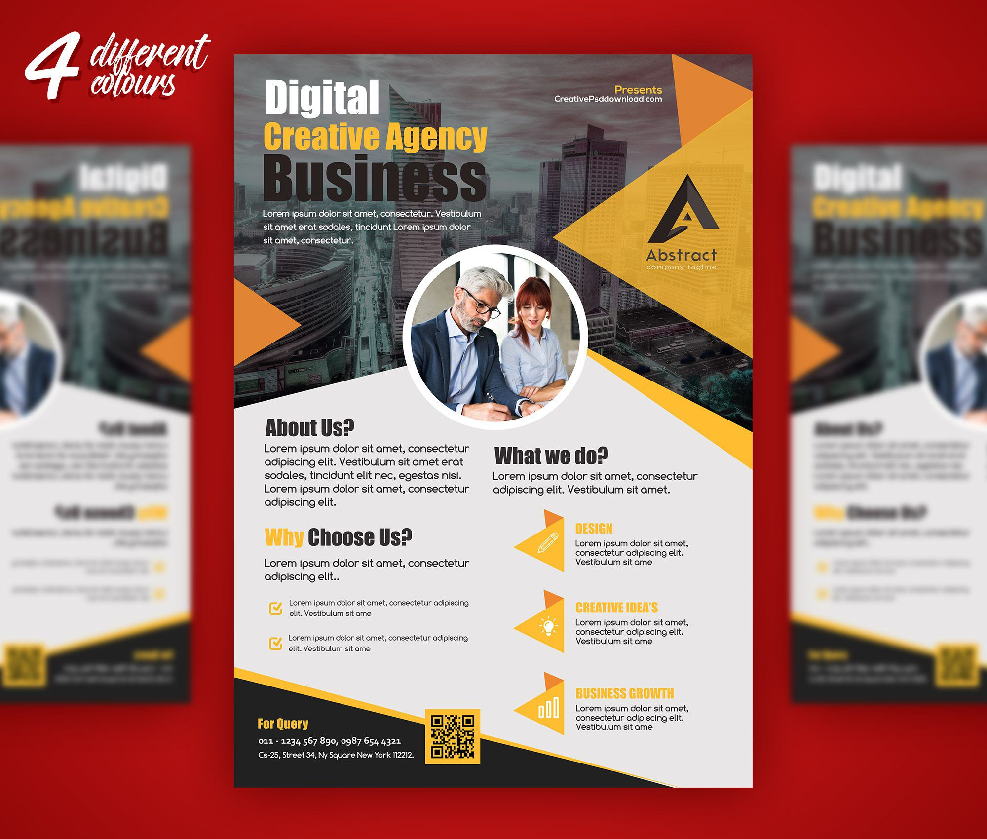 008 Simple Busines Flyer Template Free Download Example Full