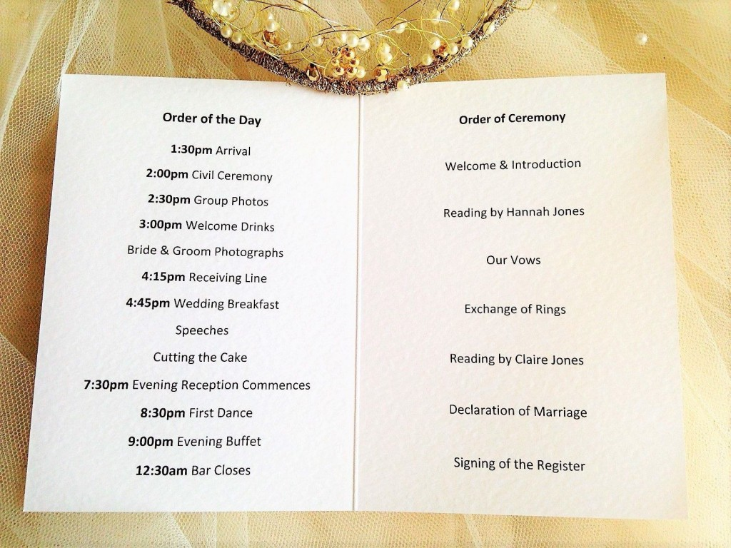 008 Simple Church Wedding Order Of Service Template Uk Design Large