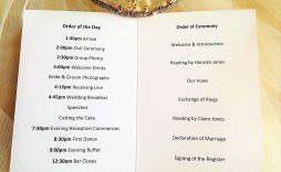 008 Simple Church Wedding Order Of Service Template Uk Design