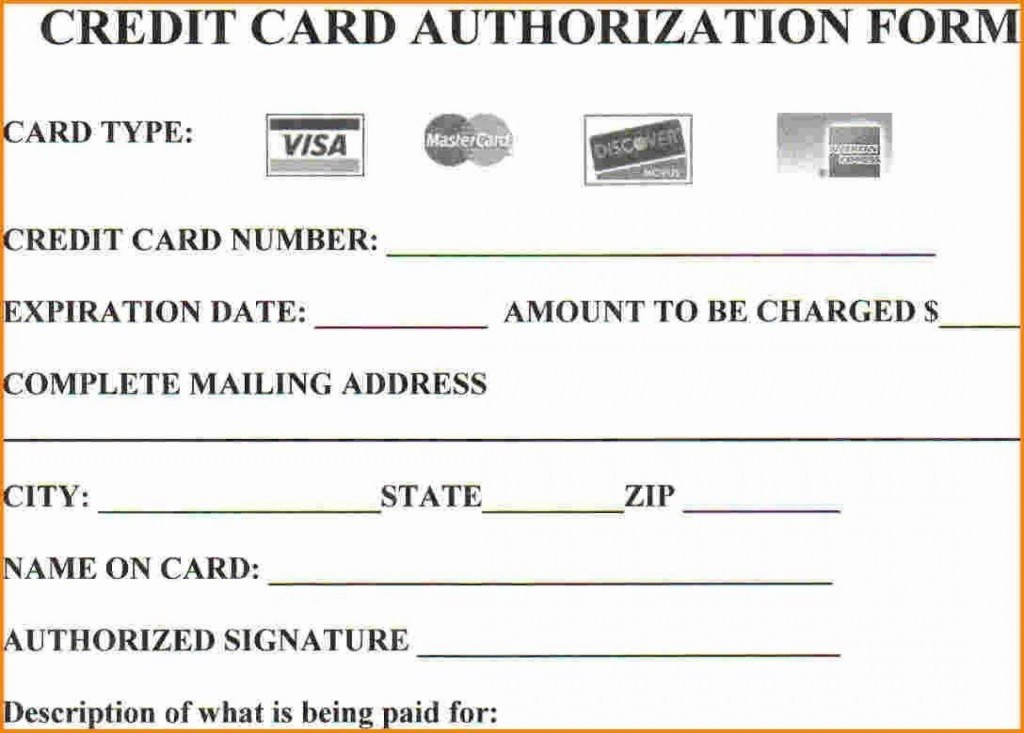 008 Simple Credit Card Payment Form Template Pdf Inspiration  AuthorizationLarge