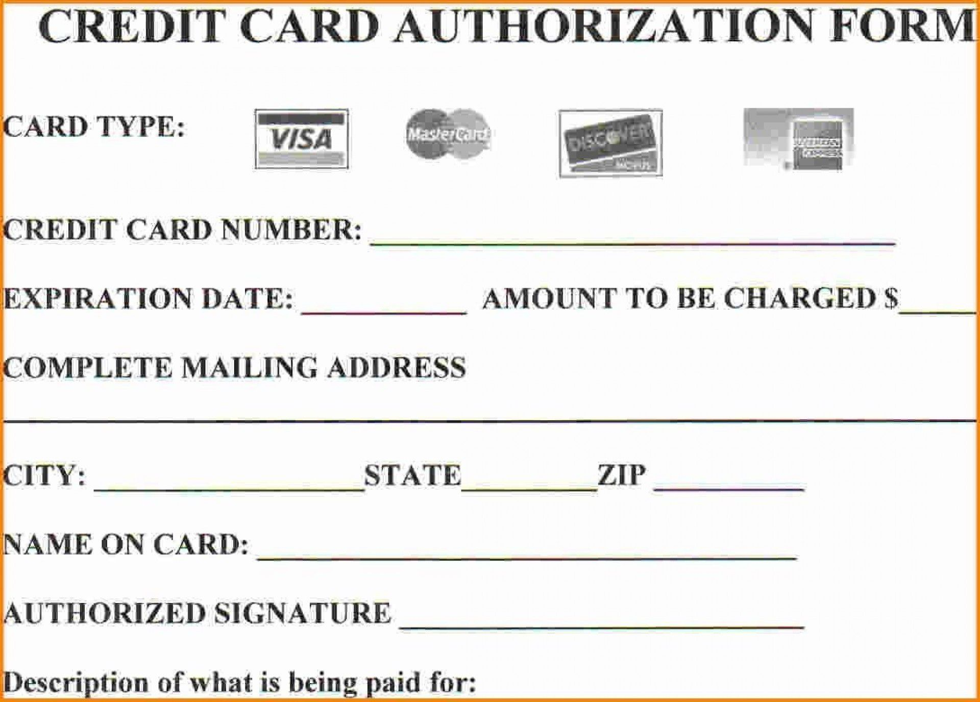 008 Simple Credit Card Payment Form Template Pdf Inspiration  AuthorizationFull