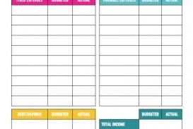 008 Simple Free Blank Monthly Budget Sheet Picture  Printable Worksheet